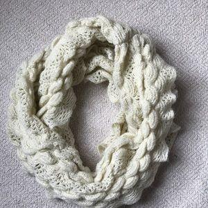 Accessories - Cream infinity ruffled scarf